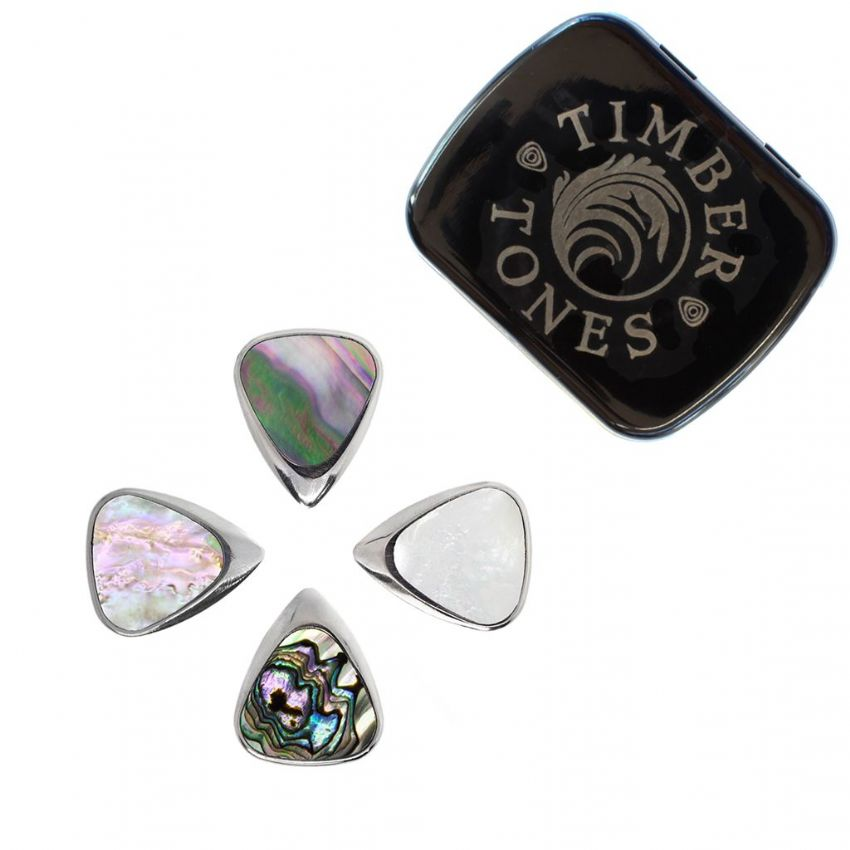 Inlay Tones Mini - Tin of 4 Guitar Picks | Timber Tones